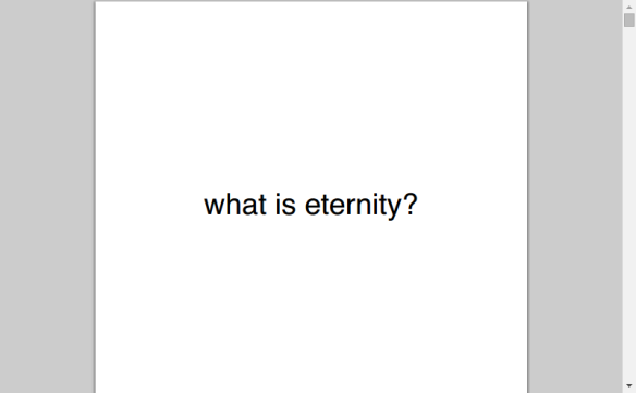 what is eternity