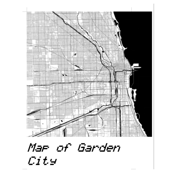 map of garden city square